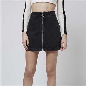 Topshop Moto Denim Skirt. Size 4